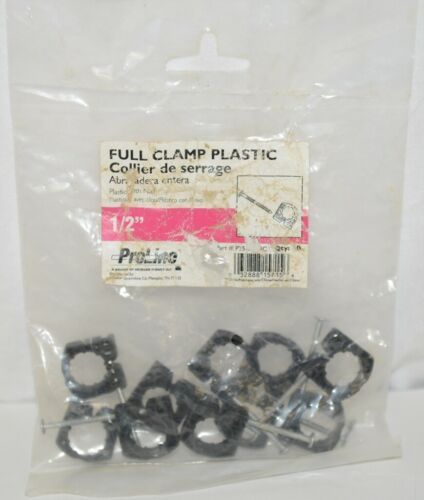 Mueller Pro Line P25050HC Full Pipe Clamp Plastic Nail Half Inch 10 Count