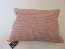 Vera Wang Roses Pink silk Quilted Breakfast pillow NWT $150 - $67.85
