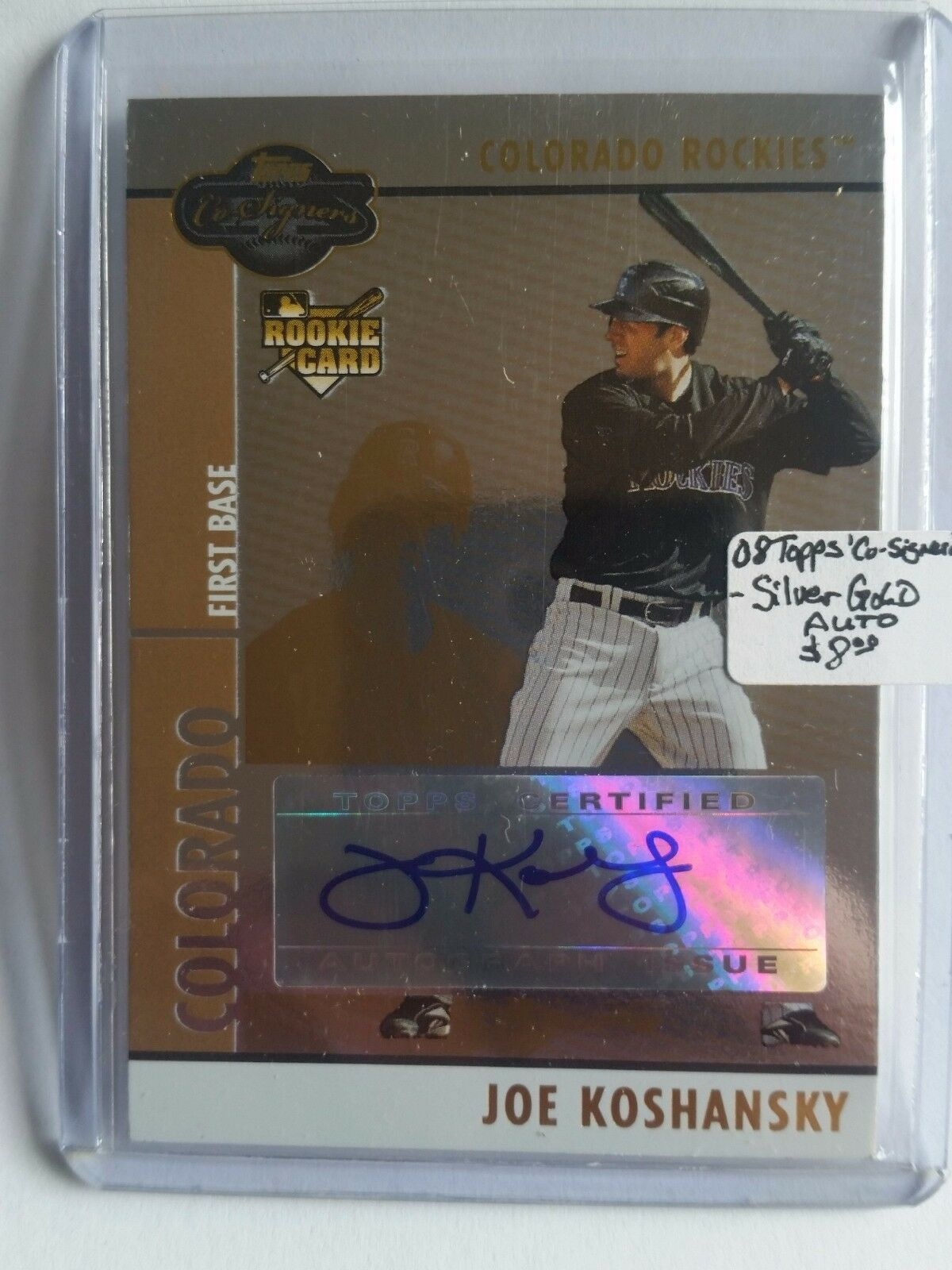 Primary image for 2008 Topps Co-Signers #103 Joe Koshansky AU (RC) : Colorado Rockies