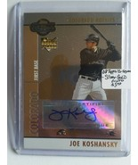 2008 Topps Co-Signers #103 Joe Koshansky AU (RC) : Colorado Rockies - $5.65