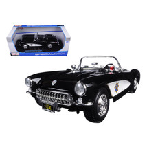 1957 Chevrolet Corvette Highway Patrol 1/18 Diecast Model Car by Maisto ... - $74.67