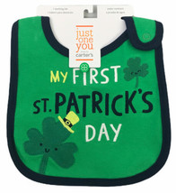 St. Patrick's Day Baby Bib My First ST. Patricks Day Carter's Just One You - $8.91