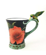 Hibiscus Flower Mug for Soup Coffee Tea Cup Decorative Collectible Home ... - $12.34
