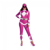 Disguise Power Rangers Rosa Ranger Deluxe Adulto Donna Halloween Costume... - $43.83+