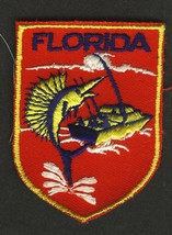 VINTAGE FLORIDA STATE EMBROIDERED CLOTH SOUVENIR TRAVEL PATCH - $4.95