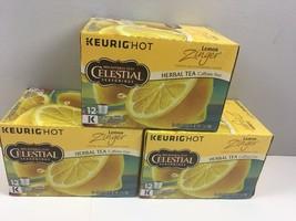 Celestial Seasonings Lemon Zinger Herbal Tea 36 Keurig K-Cups 3 Boxes 2020 - $34.45