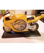 "Honda CBR900T Motorcycle Racing desk clock Yellow 10"" - $29.65"