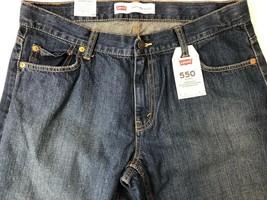 Levi's Boys 550 Straight Leg Jeans Blue Relaxed Fit Adjustable Waist 12 ... - $12.86