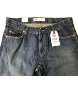 Levi's Boys 550 Straight Leg Jeans Blue Relaxed Fit Adjustable Waist 12 Husky - $12.86