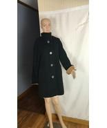 Ellen Tracy Women's Coat Size 10 Vintage Angora Wool Blend Black and Car... - $60.78