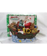 Holiday Treasures Santa In Ark Figurine - $14.48