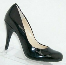 Jessica Simpson 'Oria' black man made round toe slip on pumps heels 6M - $33.30