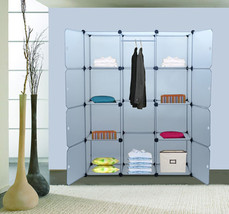 48 Cube Panel Closet Organizer Storage Clothes Enclosed DIY Shelf Modula... - $51.47