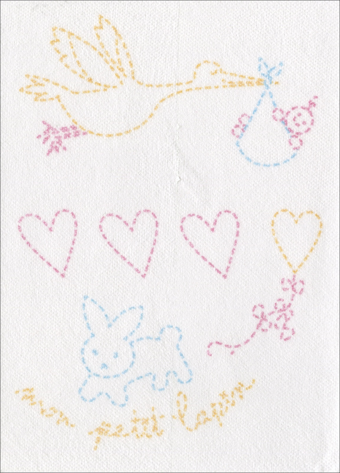 Primary image for Dmc Magic Paper Pre-Printed Needlework Designs-Birth - Embroidery