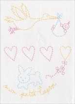 Dmc Magic Paper Pre-Printed Needlework Designs-Birth - Embroidery - $7.59