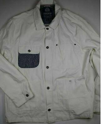 AMERICAN RAG White 4 Pocket Front Button Long Sleeve Shirt Jacket 2XL XXL