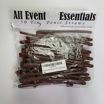 Bachelorette Party 50 Penis Dick Drinking Straws Party Supply Decoration... - $15.84