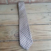 Evan-Picone Men's Tie Geometric 100% Silk extra Long  - $14.79