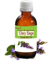 Clary Sage Pure Natural Essential Oil- 5 ml to 250 ml Salvia sclarea by ... - $9.89+
