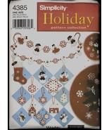UNC Christmas Tree Skirt Ornaments Stocking Elaine Heigl Simplicity 4385... - $6.99