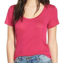 PST by Project Social T fushia pink scoop neck short sleeve t-shirt medium - $22.00