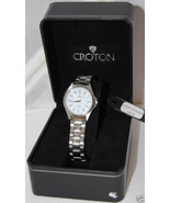 Croton All Stainless Steel White Dial Ladies Quartz Watch  MSRP $125.00 - $47.49