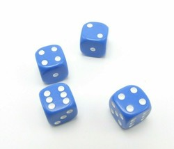 Perudo Blue Dice Replacement Game Part Piece Plastic 2008 1808 Rounded Corners - $3.99