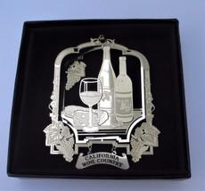 California Wine Country Brass Ornament Travel Souvenir - $14.95