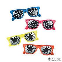 Star Print Mirrored Lens Sunglasses - $12.49