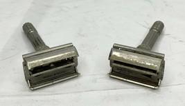 Lot Of 2 Vintage Gillette Slim L1 Adjustable 1-9  DE Safety Razor - $100.00