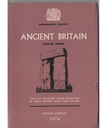 Ancient Britain Ordance Survey South Sheet - 1964 - Second Edition. - $2.45