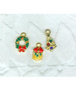 Special Sale 95 Christmas Charms Costume Jewelry Cards Scrapbooking Crafts - $7.50