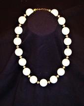 "Monet 17"" White/Gold Beaded Necklace - $29.69"