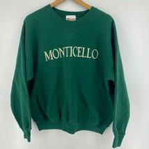 Hanes Sweatshirt Men's XL Green Monticello Crew Neck Pullover Heavyweigh... - $23.09