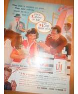 Vintage L&M Cigarettes James Arness Print Magazine Advertisement 1959 - $8.99