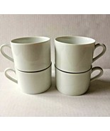 Coffee Cup Mug Ten Strawberry Street  Monno Set of 4 White Tea Hot Chocolate - $29.65