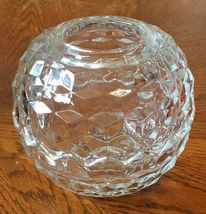 Homco Clear Glass Globe Fairy Lamp Candle Holder Cubist Design Orb 2 Pc ... - $29.99