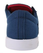 Supra Westway Boys Kids' Navy Suede/Navy Canvas/Red Skate Shoes 11K NEW image 3