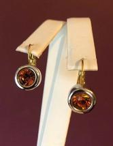 Joan Rivers Amber Stone Pierced Earrings - $14.84