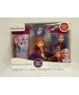 NEW SEALED Frozen II 4 pc Bath Set Soap & Scrub Shampoo, Body Wash & Bat... - $12.19