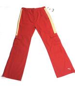 Puma Girls Red Cargo Pants Size 14 XL Juniors Sports Pants Casual Slacks... - $31.33