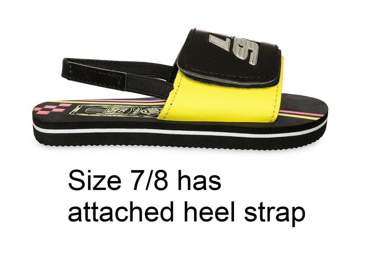 Disney Store Boys Cars Lightning McQueen Sandals Size 7/8 9/10 11/12 13/1 2/3