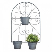 Scrollwork Trellis With Flower Pots - $30.20