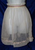 Vintage Sheer Hostess Apron Batiste Ruffle 18516 - $19.39