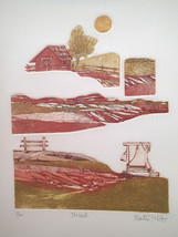 "Martin Tobias Embossed ""Rural Landscape"" Farm with windmill ,Barn and wo... - $29.65"