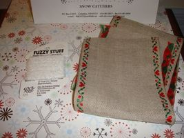 Fanci That Pattern Snow Catchers And Banding Fabric Buttons Fuzzy Stuff Thread   image 3