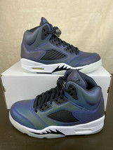 Nike Women's Air Jordan 5 Retro Size 6 Oil Grey Black White Shoes CD2722... - $126.08