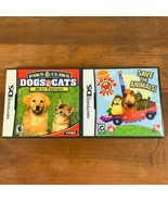 Nintendo Ds 2 Game Lot Dogs & Cats Wonder Pets Video Game Tested - $9.23