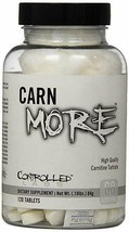 Controlled Labs | CARNmore L-Carnitine + L-Tartrate | 1000 mg x 120 Tablets - $13.81