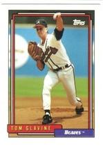 TOPPS MLB BASEBALL CARD #305 TOM GLAVINE BRAVES 1992 - $4.49